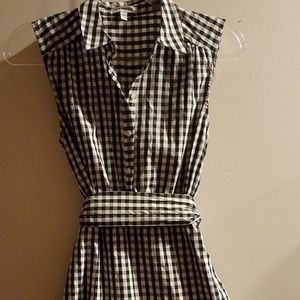 Cute EXPRESS Gingham B&W Lined Dress